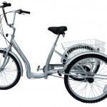 Dreirad mit Tiefeinstieg silber