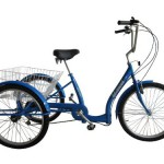 Dreirad mit Tiefeinstieg blau